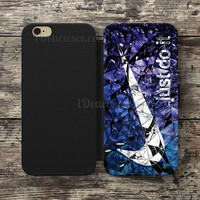 Wallet Case For iPhone 6S Plus 5S SE 5C 4S case, Samsung Galaxy S3 S4 S5 S6 Edge S7 Edge Note 3 4 5 just do it cracked glass blue Nike Cases