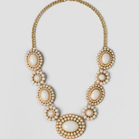 Caney Statement Necklace In Ivory