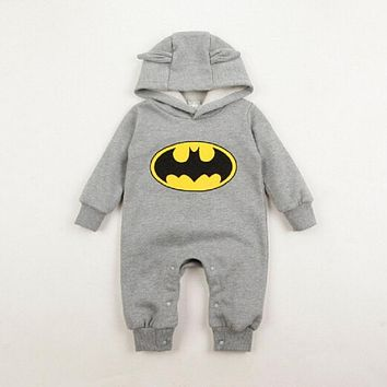 Autumn Romper Boys girl  Batman Play suit Costume Rompers Outwear Newborn clothing