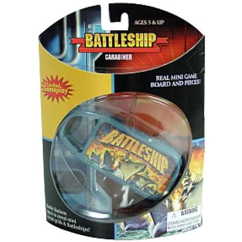 Battleship Game - mini Carabiner - for all your travel size needs