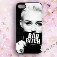 Miley cyrus iPhone 5 case,bad bitch iPhone 5s case,iPhone 5c case, iPhone 4/4s Cover,bad girl samsung galaxy s3 s4 s5 case,Fashion Style