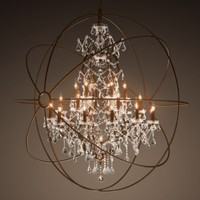Foucault's Orb Crystal Chandelier X-Large | Ceiling | Restoration Hardware