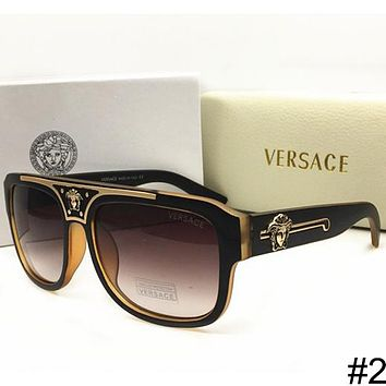 Versace 2018 Summer New Men and Women Trend Fashion Polarized Sunglasses F-WMYJ-YF #2