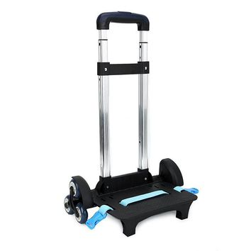 Travel Accessories 3 Wheels&2 Wheels Rolling Cart Removable Trolley Kids Schoolbag Luggage Carts for Girls and Boys