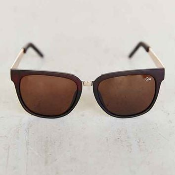 Quay Oslo Sunglasses- Brown One