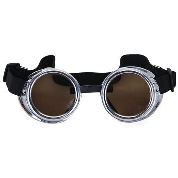 Vintage Rustic Cyber Goggles Steampunk Welding Goth Cosplay Photos Prop