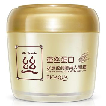 Fibroin water overflow supple sleeping beauty mask hydrating oil-control carry bright color of skin moist