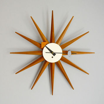 Vintage George Nelson Spike Wall Clock