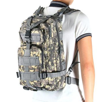 30L Unisex Waterproof Nylon Backpacks Army Military Tactical Large Capacity.
