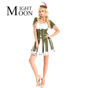 MOONIGHT New Sexy Women Pirate Costume Robinson Crusoe Costume Halloween Party Fancy Dress