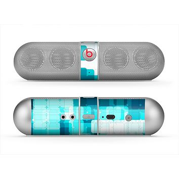 The Vibrant Blue HD Blocks Skin for the Beats by Dre Pill Bluetooth Speaker