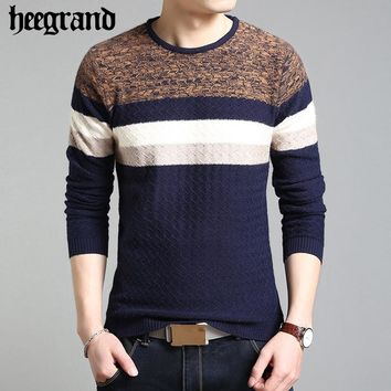 Men Sweater Winter Round Neck Knitted