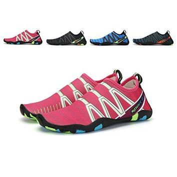 Maniamixx Water Shoes for Men Women Barefoot Aqua Shoes QuickDry Summer Shoes for Beach