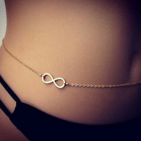 Beach Body Chain, Simple Body chain, Delicate Gold plated Body Chain,Gold Body Chain, Bikini Chain, Girlfriend Gift S002