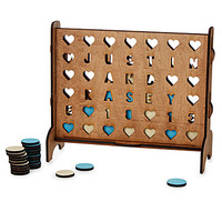 Personalized Hearts Four-Across Game | connect 4
