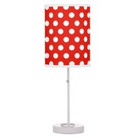 Red White Polka Dots - Table Lamp
