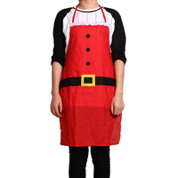 Creative Christmas Decoration Red Apron Kitchen Dinner Party Shoulder Strap Sleeveless Apron for Christmas Decorations