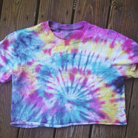 SUMMER SALE Rainbow Crop Top Tie Dye
