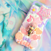 Kawaii Vocaloid - Megurine Luka - purple decoden phone case - iphone 5/5s and ipod touch 5g