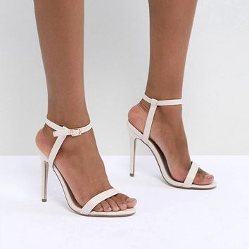 6f12c89d20644 Missguided Barely There Heeled Sandals at asos.com