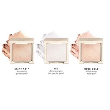 Holiday Travel Sized Powder Highlighter Gift Set 2- Skinny Dip, Ice and Rose Gold