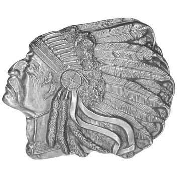 Sports Accessories - Pontiac Indian Antiqued Belt Buckle