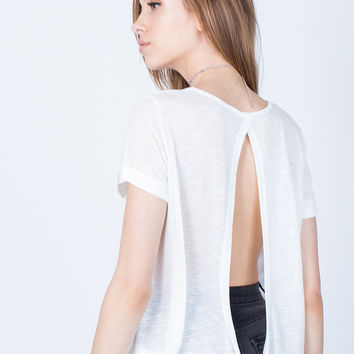 Open Twist Back Tee