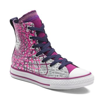 Converse All Star Party Paint Splatter High-Top Sneakers For Girls