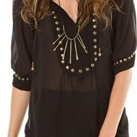 ANGIE SOLID STUD TOP | Swell.com