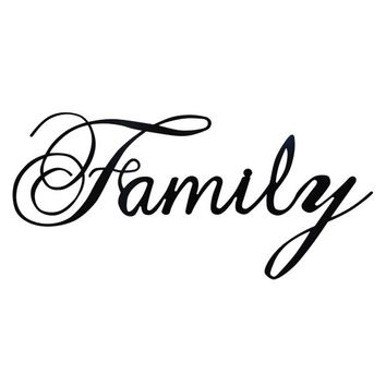 Family - Laser Cut Metal Wall Decor Sign