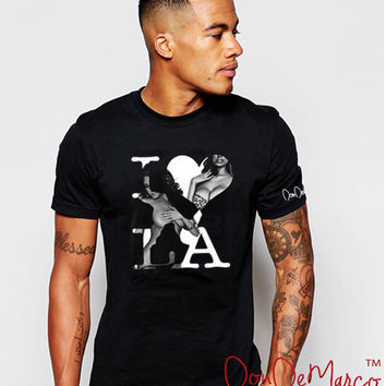 DonDeMarco I Love LA Black T-Shirt