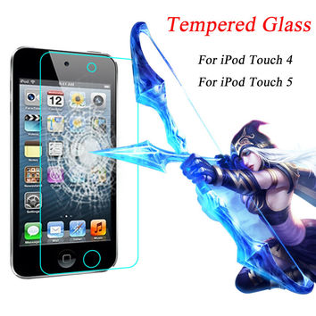0.3mm 2.5D Screen Protector Tempered Glass For iPod Touch 4 For iPod Touch 5 Phone Cases Full Cover Protective Film