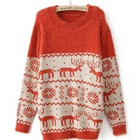 *Free Shipping* Orange Women One Size Sweater TBHTK007 from MaxNina