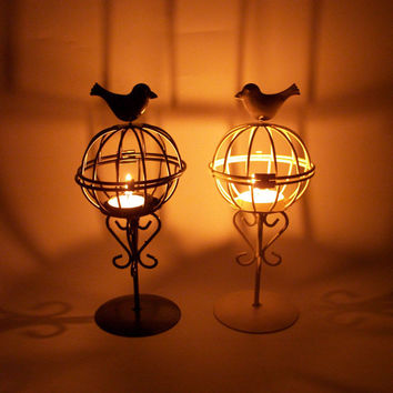Cage Iron Candle Stand Creative Lights Decoration Gifts Home Decor [6282396614]