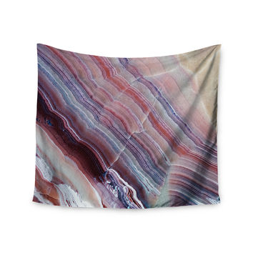 "KESS Original ""Sunrise Agate"" Pink Purple Wall Tapestry"