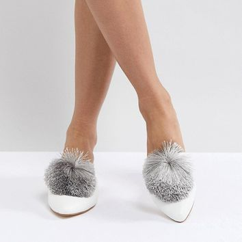 Truffle Collection Pom Mule Shoe at asos.com