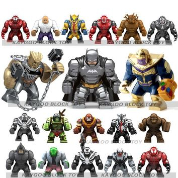 Deadpool Dead pool Taco Super Heroes Avengers Single Sale Large big sizeAnti Venom  Thanos Hulk Ironman Building Blocks Toys for children AT_70_6
