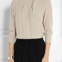 Lanvin - Silk-crepe top