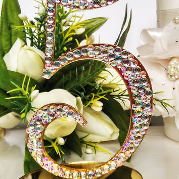 Wedding Table Number rhinestones Gold Table Number Gold Table Number Elegant Table Number Stand Table numbers for wedding gold Gold decor