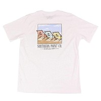 Beach Chairs Tee in White by Southern Point Co.