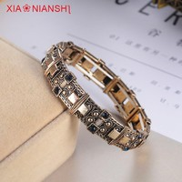 XIAONIANSHI New originality antique gold silver bracelet cuff bangles stretch bracelet vintage jewelry popular armband for women