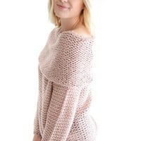 Wake Me Up Sweater In Mauve