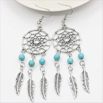 Trendy Dream Catcher Drop Boho  Earrings