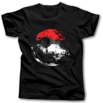 Death Star Pokeball T shirt Men & Women Star Wars  Pikachu Jedi Sith  printed short sleeve casual tee US plus size XS-3XLKawaii Pokemon go  AT_89_9
