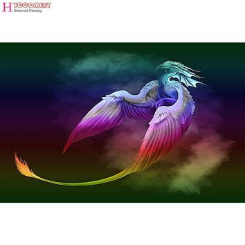 5D Diamond Painting Rainbow Dragon Flying Kit