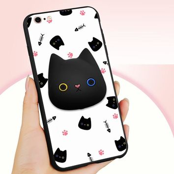 Phone Case for iPhone 6s 6 4.7-inch  3D Patterned Squishy Silicone Jelly Shell for iPhone 6s