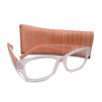Peach 1.75 Magnification Reading Glasses