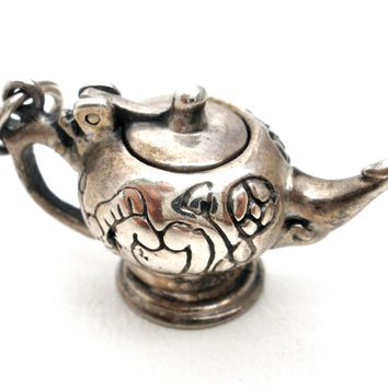 Sterling Silver Teapot Charm Museum of Fine Arts Vintage