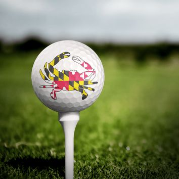 Maryland Full Flag Crab / Golf Balls