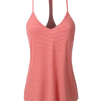 LE3NO Womens Loose Striped Spaghetti Strap Tank Top (CLEARANCE)